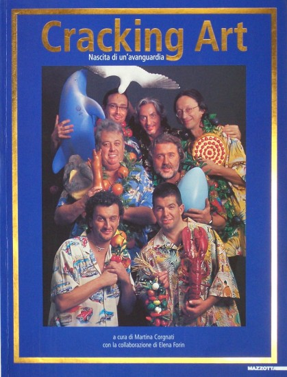 The members of the  Cracking Art Group on the cover of their book 2005.