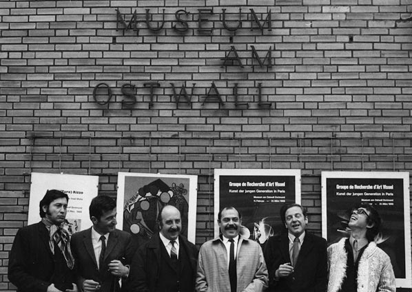 Some of the artists from the Groupe de Recherche d'Art Visuel. Julio Le Parc, Joël Stein, Horacio Garcia Rossi, Francisco Sobrino, François Morellet and Jean-Pierre Yvaral .