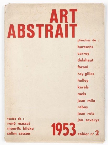 Second edition of the magazine Art Abstrait, 1953