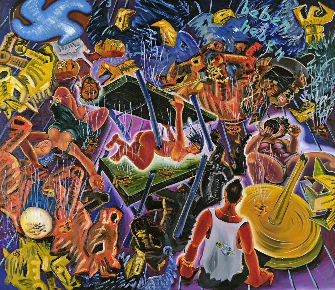 Een neo-expressionistisch werk van Jörg Immendorff