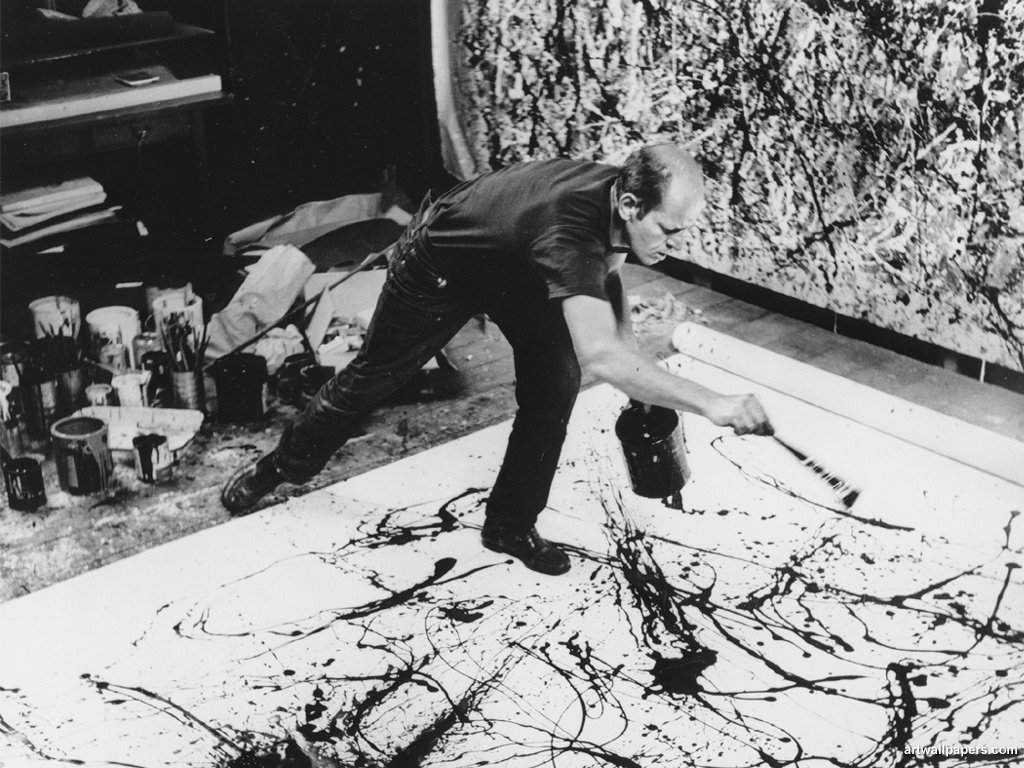 Action painter Jackson Pollock is the most famous representative of the Abstract Expressionism movement.