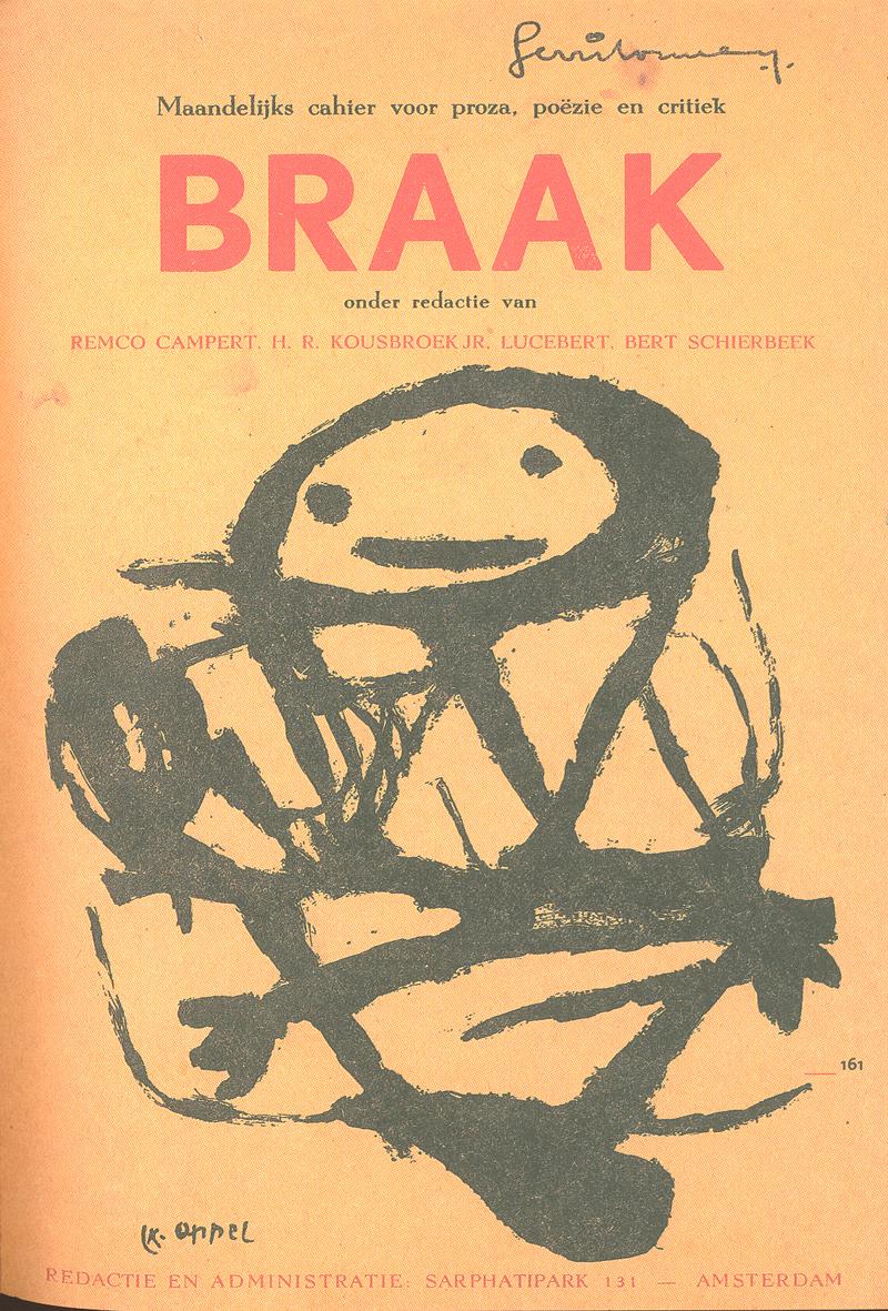 Cover van het maandblad Braak waarin de Vijftigers geregeld publiceerden.