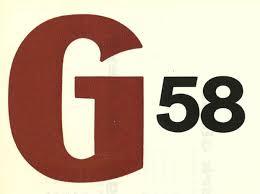 Het logo van G 58.