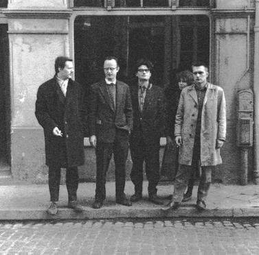 Armando, Henk Peeters, Kees van Bohemen and Jan Henderikse at Galerie Schmela in Düsseldorf, 1959