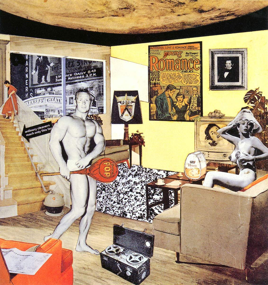 "Richard Hamilton - ""Just What Is It That Makes Today's Homes So Different, So Appealing?"", collage, 1956"
