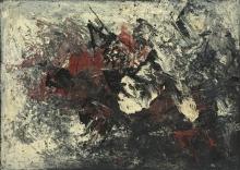Kees Van Bohemen - olie op doek, zonder titel, 1961 (collectie Museum van Bommel van Dam)