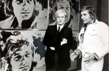 Andy Warhol with collector Gunter Sachs