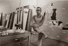 Reinier Lucassen in his studio.