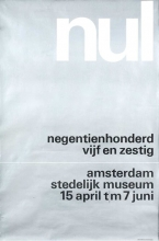 "Poster of the exhibition ""nul"" in the Stedelijk Museum Amsterdam, 1965"