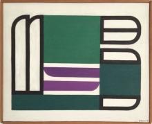 Jo Delahaut - zonder titel, olie op doek, 1954