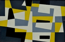 Victor Noël - Composition, oil on panel, 1958