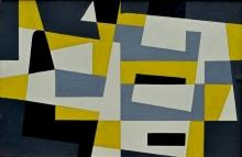 Victor Noël - Compositie, olie op paneel, 1958