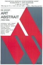 Affiche van een tentoonstelling in het PMMK (museum Oostende) over de Art Abstrait, 1988