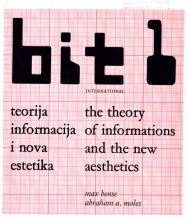 First issue of Bit International: The Theory of Informations and the New Aesthetics, 1968
