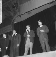 Fluxus manifestatie (Concert voor belegde broodjes) in het Kurhaus Scheveningen (Nederlands), 13 Nov. 1964
