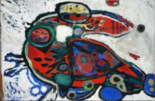 George Lampe - Untitled, oil on canvas, 1959 - 100 x 150 cm