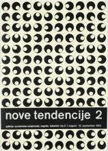 Poster of the second expo Nove Tendencije in 1963, designed by Ivan Picelj.