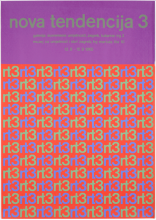 Poster of the thirth expo Nove Tendencije in 1966, designed by Ivan Picelj.