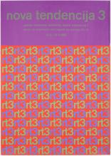 Poster van de derde expo Nove Tendencije in 1966, ontworpen door Ivan Picelj.