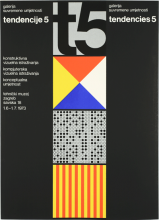 Poster of the last expo Nove Tendencije in 1973, designed by Ivan Picelj.