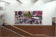 A.R. PENCK - Me in Germany (West), Emulsion paint on canvas, 1984