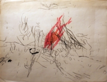 Armando - mixed media on paper, not titled, 1958 (private collection)