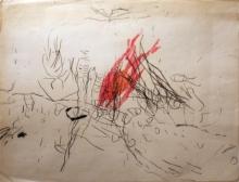 Armando - gemengde techniek op papier, zonder titel, 1958 (private collectie)