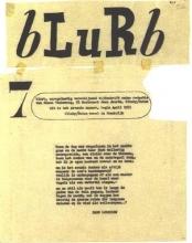 Afdruk van Blurb, tijdschrift van Simon Vinkenoog.