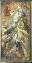 Bram Bogart - gemengde techniek op doek, zonder titel, 1956 (private collectie)
