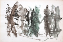 Jan Henderikse - mixed media on paper, not titled, 1957