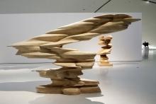 Tony Cragg, houten beeld