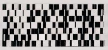 Julio Le Parc - Probabilité du noir égal au blanc n°4, kinetic work, 1961