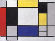 Piet Mondriaan - composition with red yellow blue and black, 1920