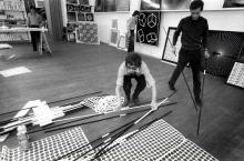 De Groupe de Recherche d'Art Visuel aan het werk, circa 1970.