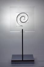 Uli Pohl - Spirale III/px, Acrylglas Aluminiumsokkel, 1963, Collectie: Stiftung Museum Kunstpalast, Düsseldorf